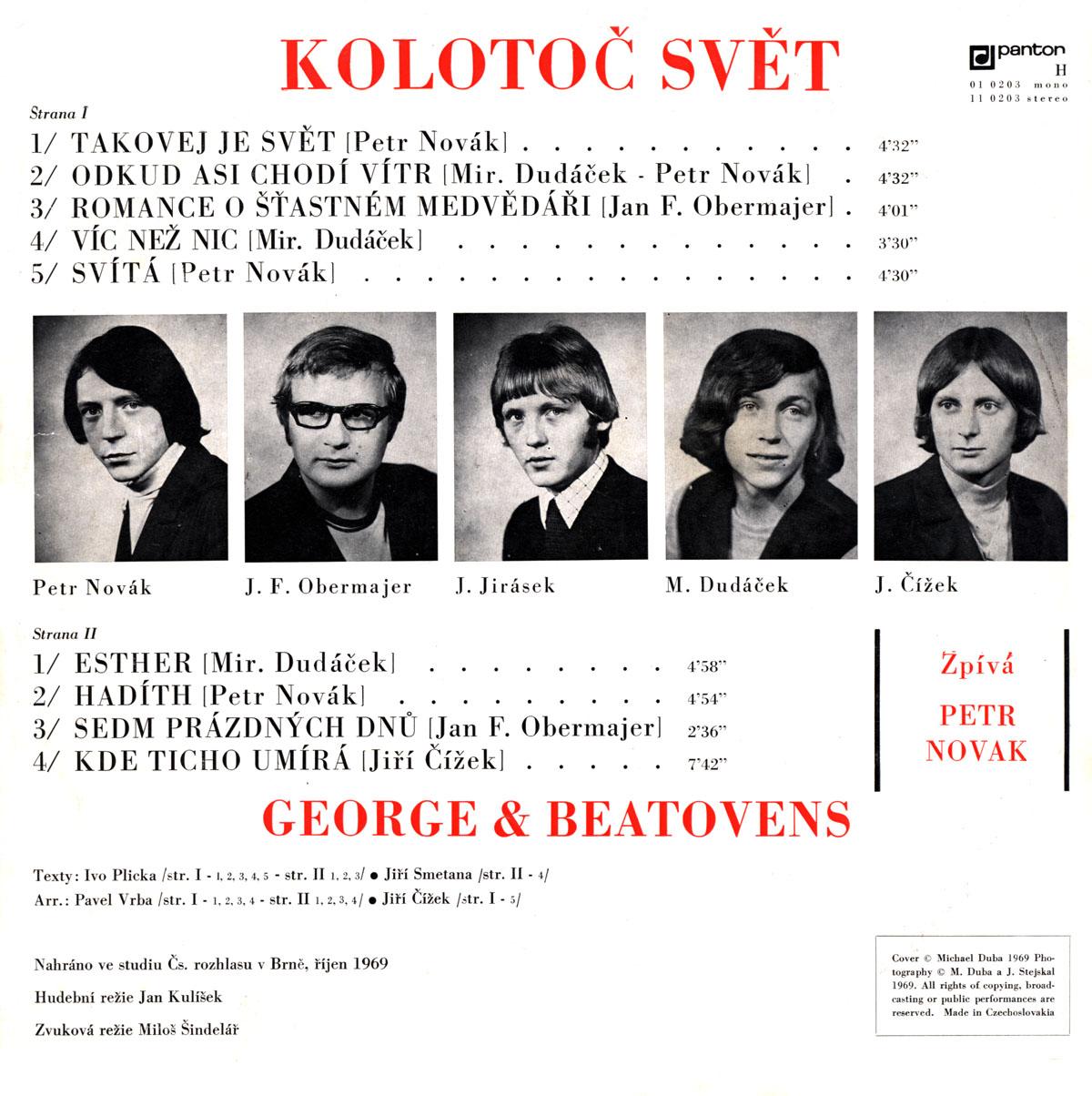 PETR NOVÁK / GEORGE & BEATOVENS - KOLOTOČ SVĚT 2