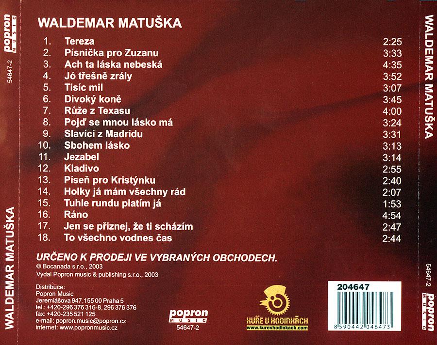 Waldemar Matuška - Síň Slávy